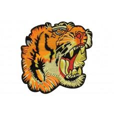 tijgerkop patch XL 18x18 cm