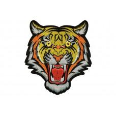 tijgerkop patch XL 18x20 cm