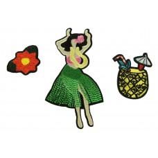 tropical dancer patch set