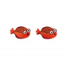tropische vis applicatie opstrijkbaar 2 stuks