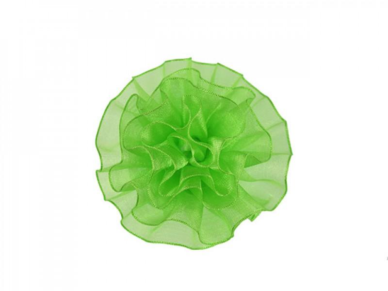 tule corsage fluor groen groot