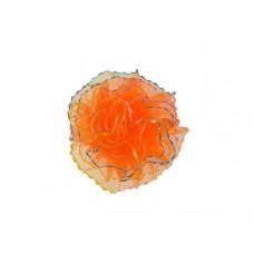 tule corsage oranje glitter groot