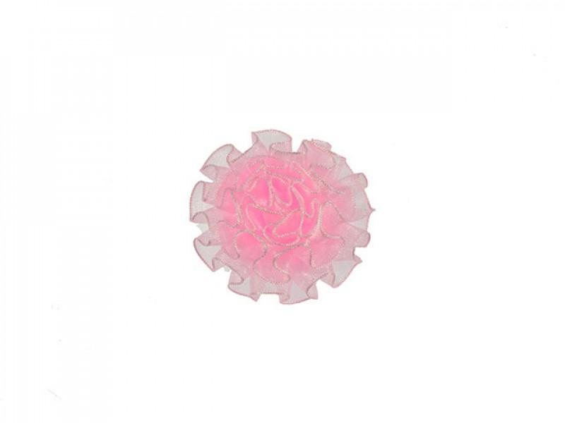 tule corsage poeder roze middelgroot