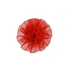 tule corsage rood groot
