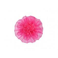 tule corsage roze groot