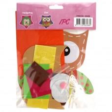 viltpakket amigurumi voor kinderen uil lila oranje