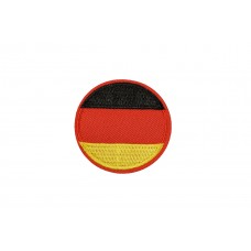 vlag Duitsland rond 5 cm