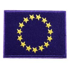 vlag europa opstrijkbaar 6 x 8 cm