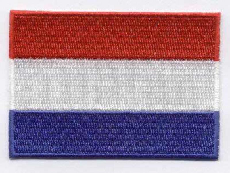 vlag Nederland opstrijkbaar 8 x 6 cm