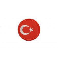 vlag Turkije rond 5 cm