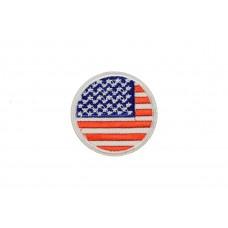 vlag Verenigde Staten rond 5 cm