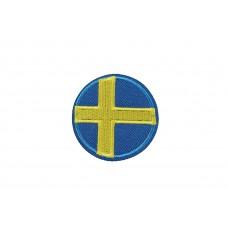 vlag Zweden rond 5 cm