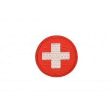vlag Zwitserland rond 5 cm