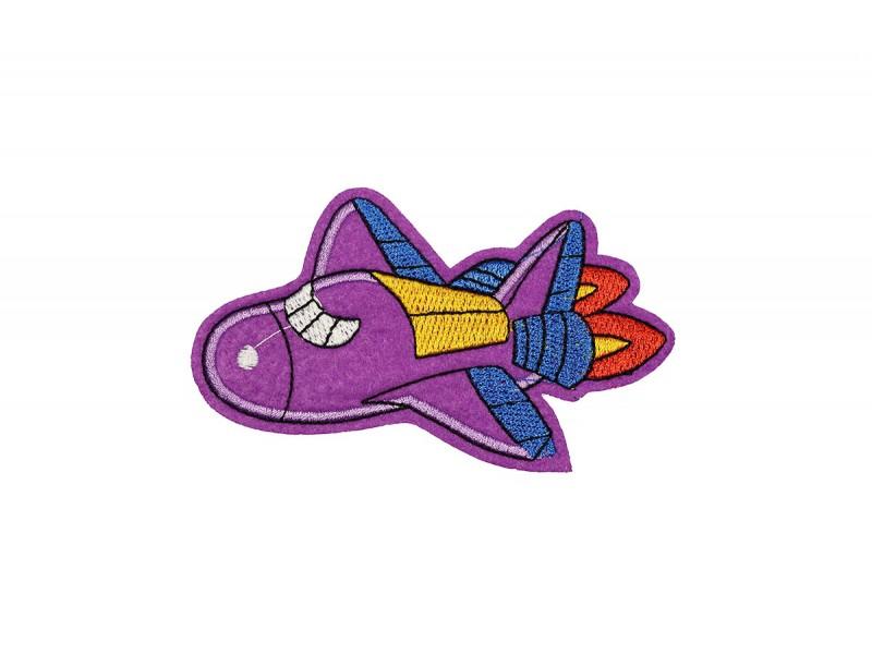 vliegtuig patch paars