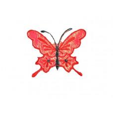 vlinder applicatie koninginnepage fel rood