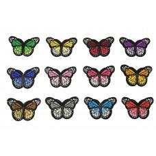 vlinder patch set 12 stuks opstrijkbaar