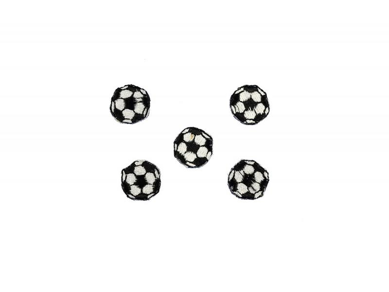 voetballen patch 5 stuks 1,5cm