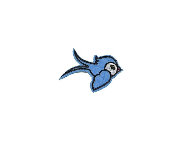 vogel applicatie blauw