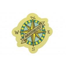 Wanderlust kompas patch