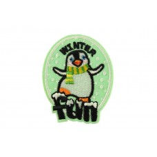 winter fun patch sticker