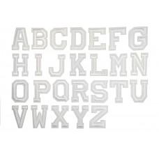 witte alfabet letter patch A t/m Z (5x4cm)