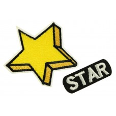 Yellow star patch set