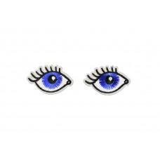 zelfklevende ogen applicatie met wimpers 2 stuks