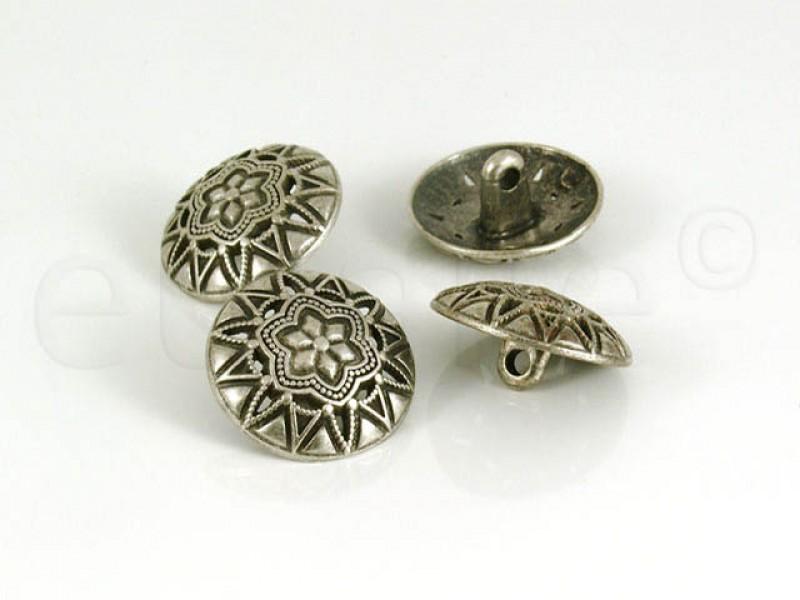 Zilveren bolvormige knoop