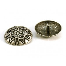 zilveren bolvormige knoop 4 cm