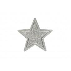 zilveren ster patch glitter