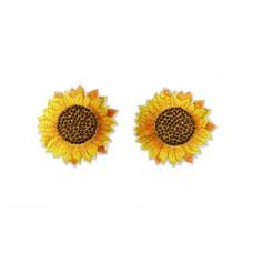 zonnebloem patch 2 stuks 6 cm