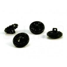 zwarte knoop met kraaltjes 1.8 cm